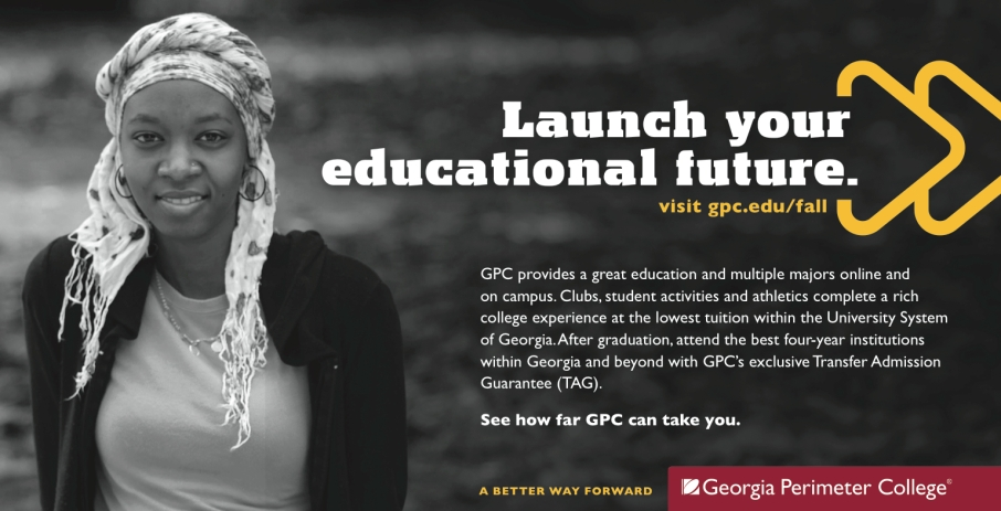 A better way forward aims to draw prospective atudents in by advertising the quality and affordability of education at GPC. Photo courtesy of Barbara Obrentz and GPC Marketing Team
